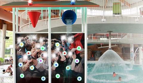 Aantrekkelijke interactieve attractie voor zwembaden