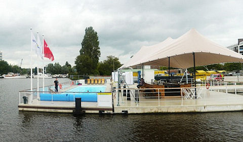 Drijvend zwembad Poel's Up even down