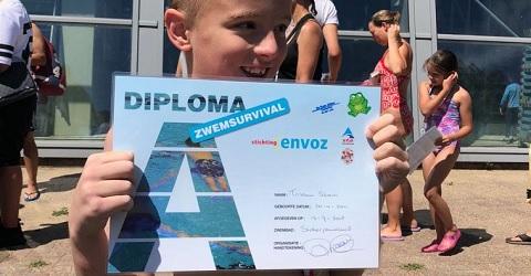 Miljoenste internationale ABC zwemdiploma uitgereikt