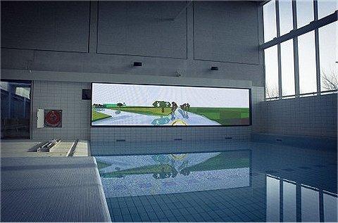 Zwembad wordt game-omgeving