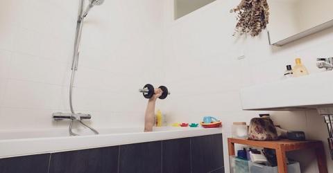Aquasporten maar dan zonder water